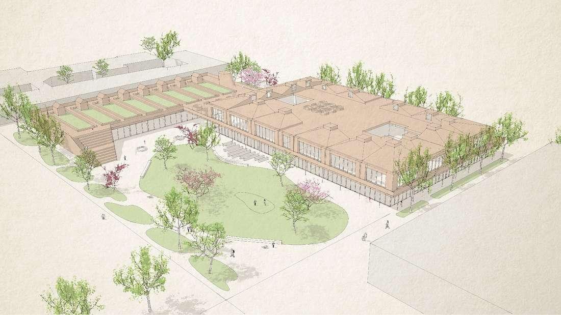 So soll die künftige Grundschule auf FRANKLIN in Mannheim einmal aussehen.