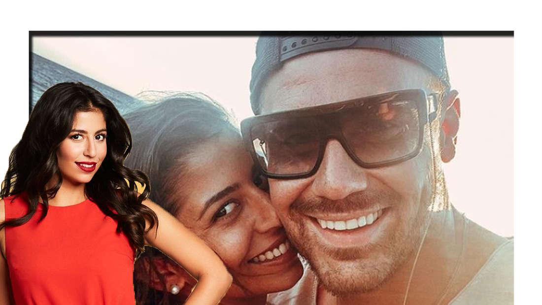 Eva lächelt in die Kamera - im Hintergrund ist sie gemeinsam mit Ex Chris zu sehen (Fotomontage).