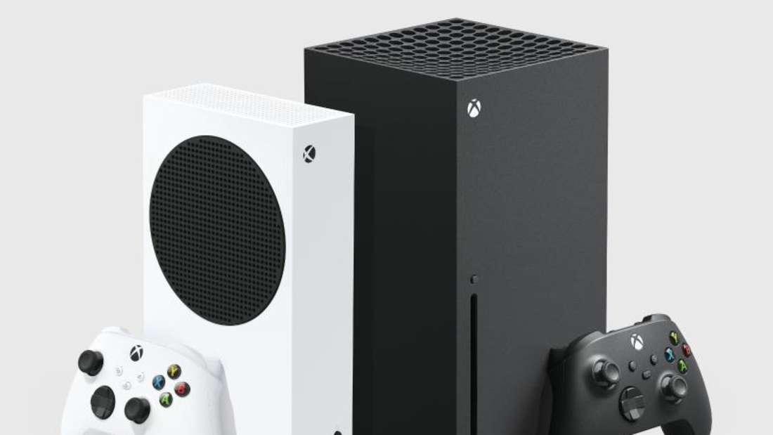 Die neuen Xbox-Modelle im Vergleich:Die kompakte Xbox Series S und die Series X.