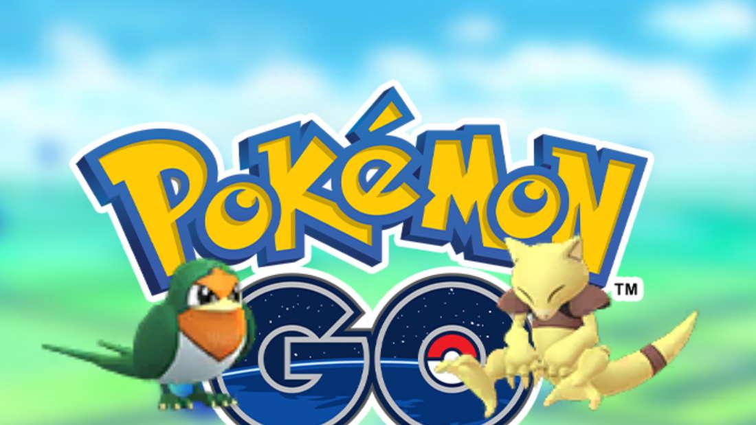 shiny schwalbini und abra pokemon go logo
