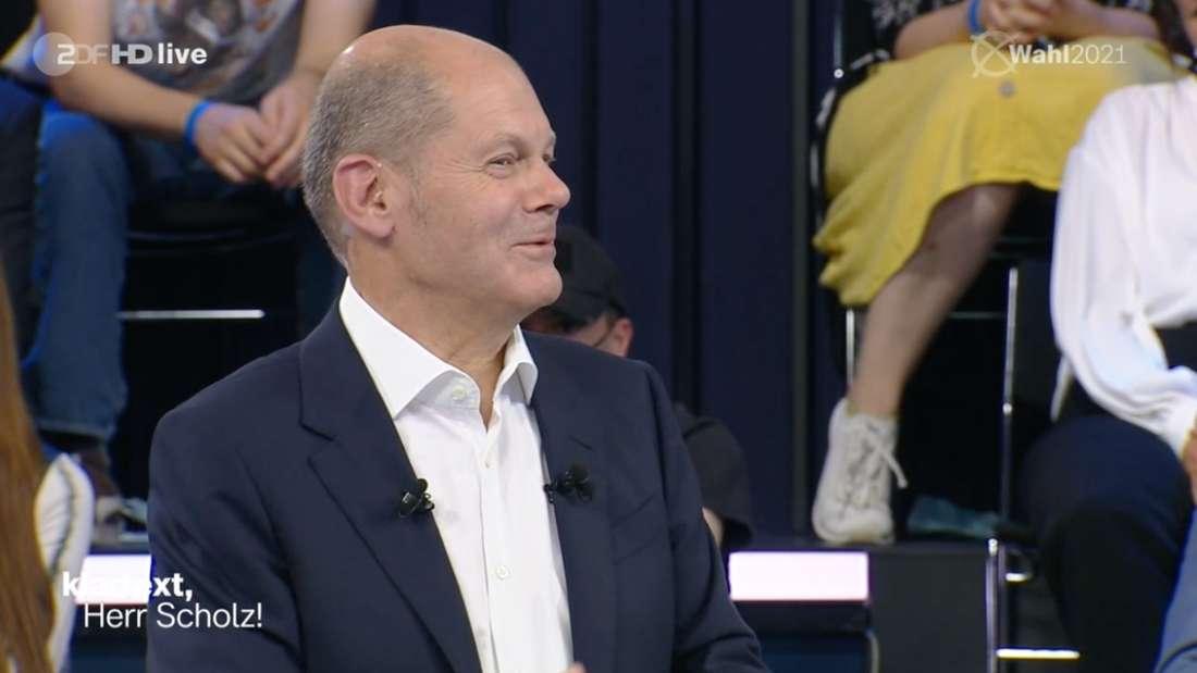 Olaf Scholz, der Kanzlerkandidat der SPD, stand den Wählern im ZDF-Studio Rede und Antwort.