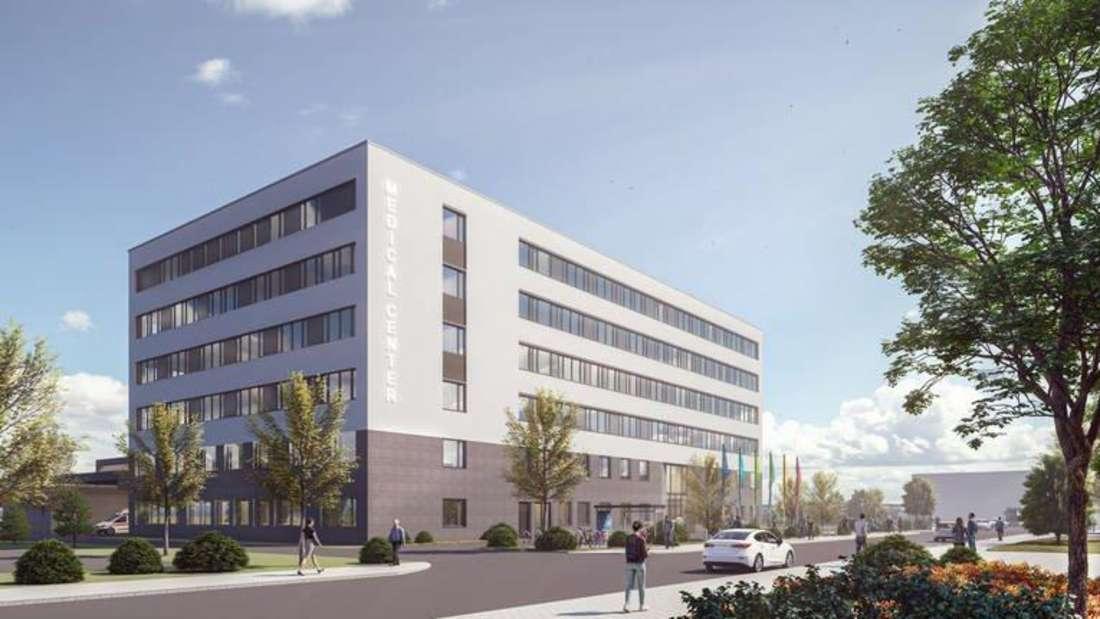 So soll das fertige Medical Center der BASF in Ludwigshafen einmal aussehen.